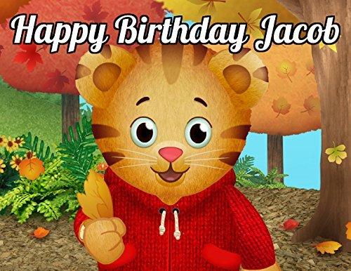Daniel Tiger S Image Photo Cake Topper Sheet Personalized Custom Customized Birthday Party 1 4 Sheet 74068 Walmart Com Walmart Com