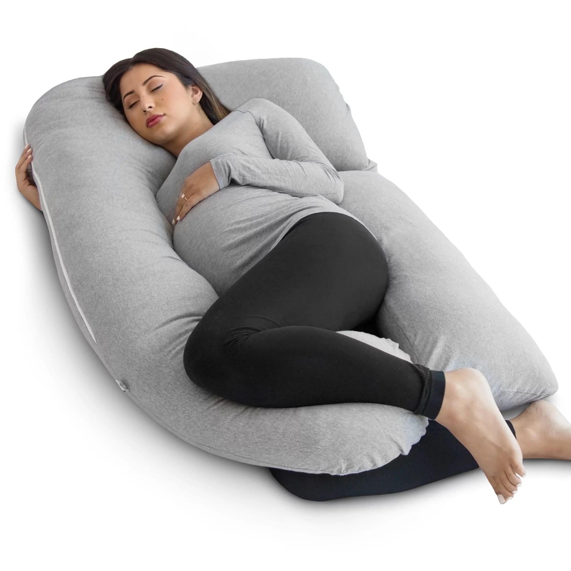 pharmedoc full body pregnancy pillow pregnant women w detachable extension grey walmart com