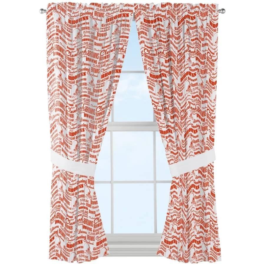 nfl cleveland browns anthem window curtain panels 1 each walmart com