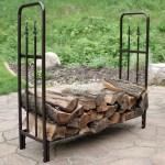 Sunnydaze Bronze Indoor Outdoor Decorative Firewood Storage Log Rack 4 Foot Walmart Com Walmart Com