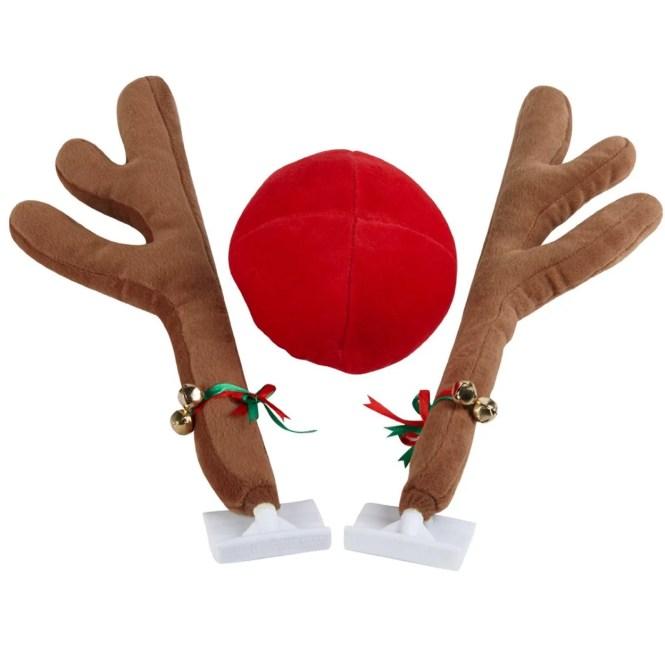 Christmas Reindeer Car Dress Up Kit Antler Decoration Antlers