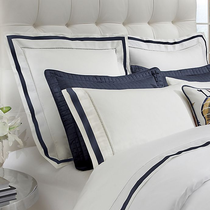 down town company chelsea european pillow sham in white navy walmart com