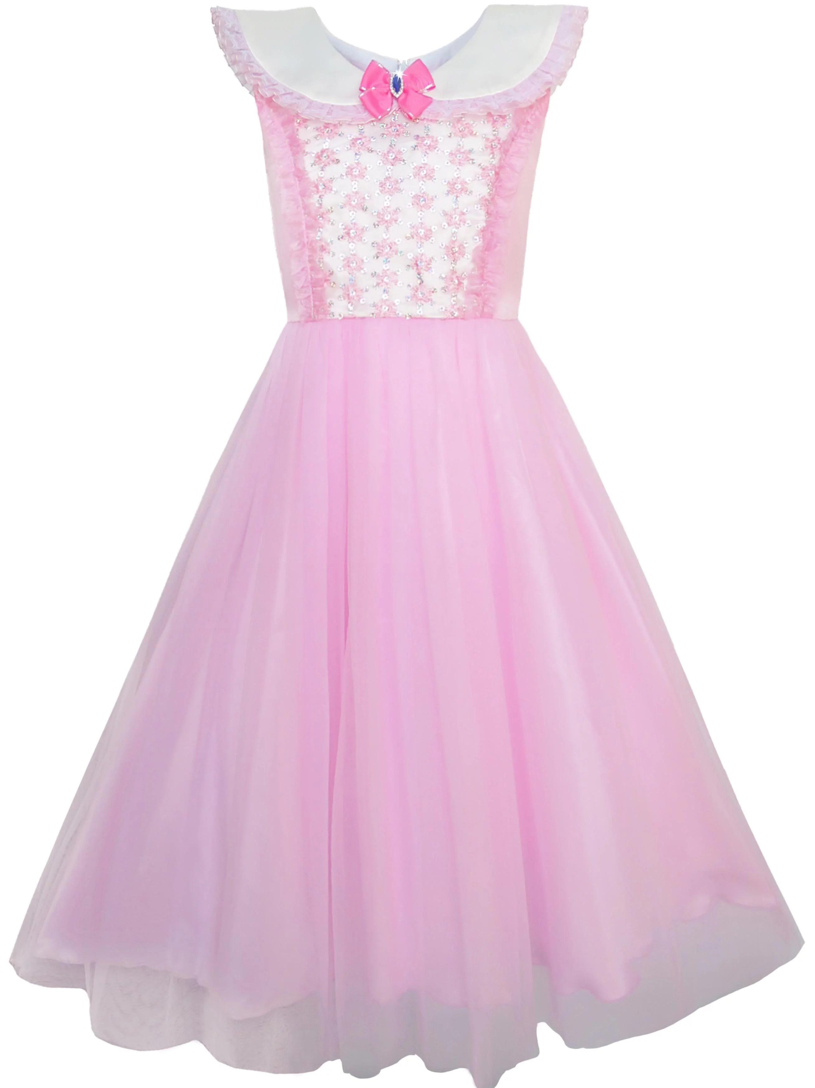 Girls Dress Pink Princess Costume Cinderella Fancy Birthday Ball 7 Years Walmart Canada