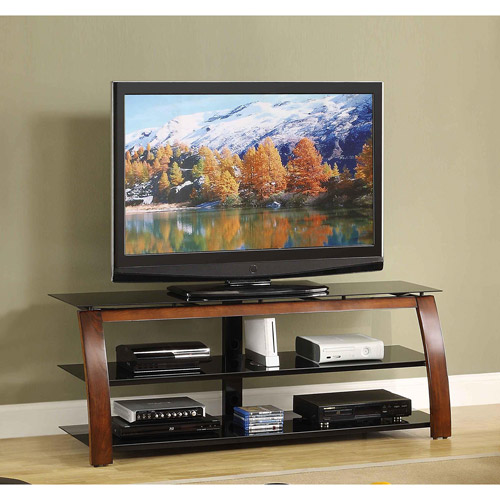 Whalen Brown Cherry 3 Shelf TV Console For TVs Up To 70