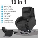 Mecor Lift Chairs For Elderly Power Lift Recliner Chair Bonded Leather Electric Lifting Chair With Remote Control Cup Holders Reinforced Heavy Duty Reclining Mechanism For Living Room Black Walmart Com Walmart Com