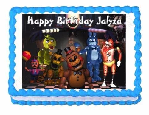 Five Nights At Freddy S Fnaf Party Edible Cake Image Cake Topper Frosting Sheet Walmart Com Walmart Com
