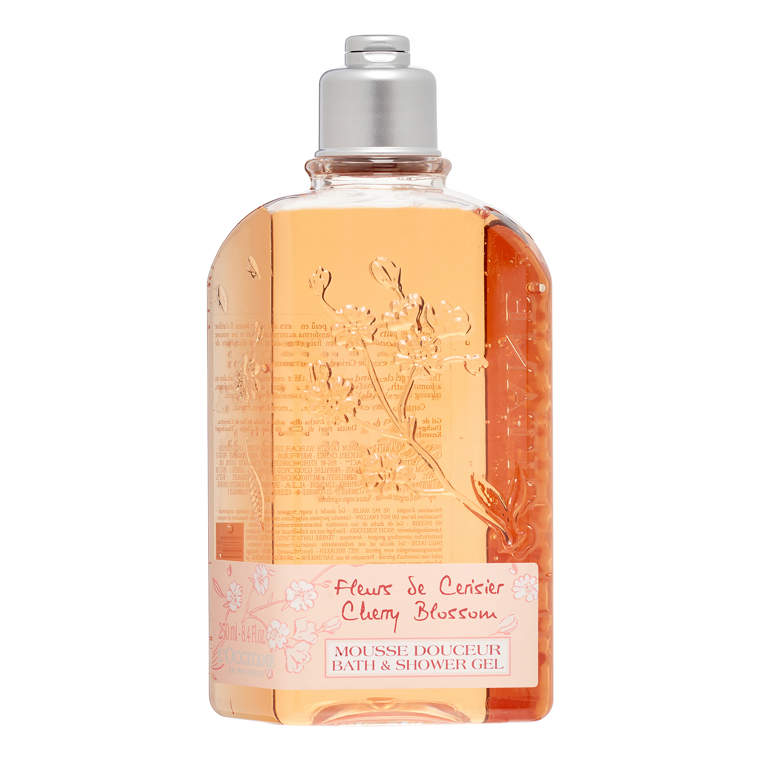 L'Occitane Cherry Blossom Body Wash Shower Gel, 8.4 Oz