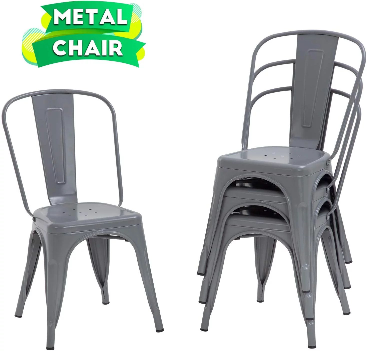 dining chairs set of 4 indoor outdoor chairs patio chairs furniture kitchen metal chairs 18 inch seat height 330lbs weight capacity restaurant chair