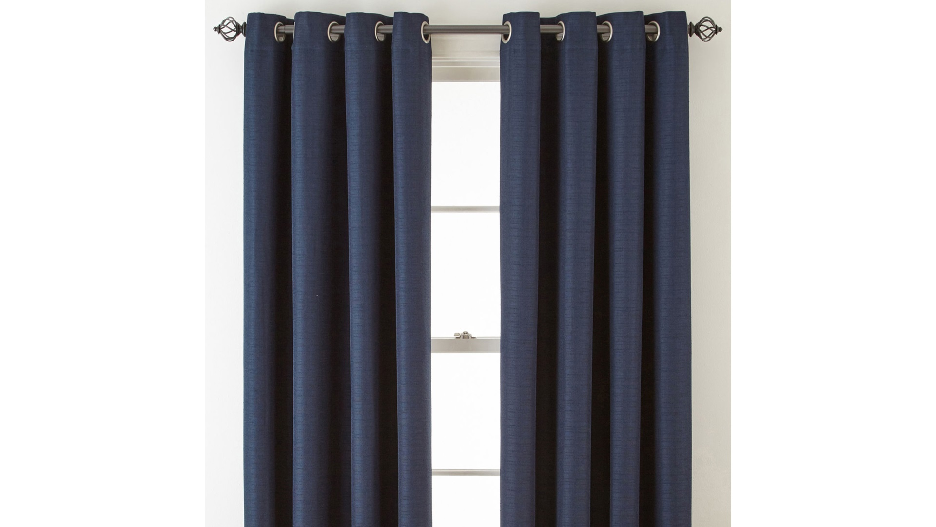 liz claiborne quinn basketweave room darkening grommet top single curtain panel indigo
