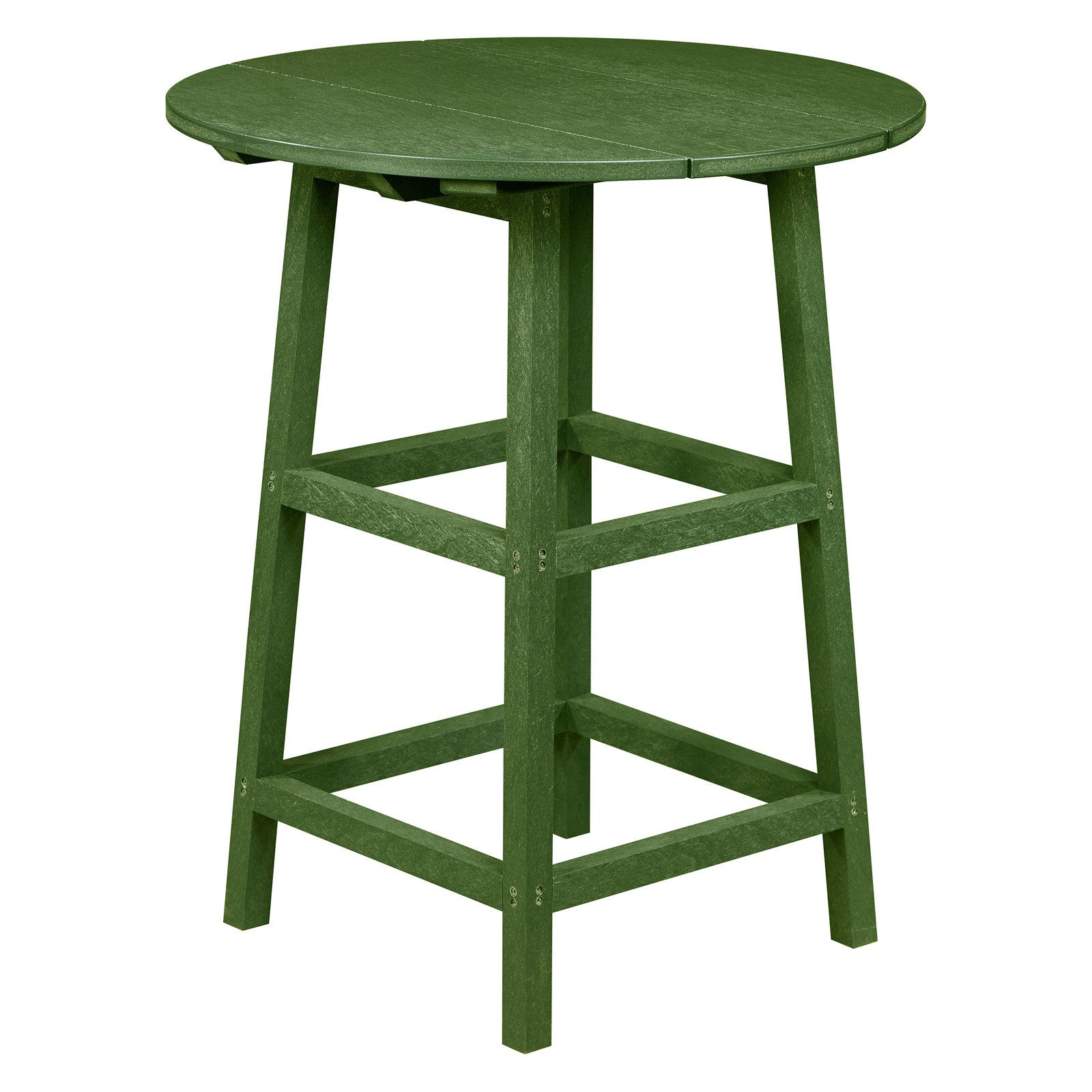captiva casual recycled plastic round pub height patio table
