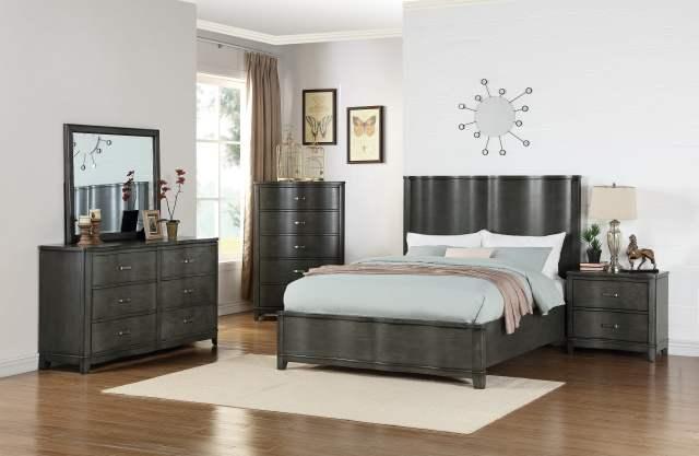 Queen Size Bed Dresser Mirror Nightstand 4pc Bedroom Set ...
