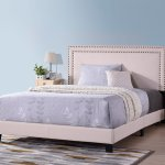 Clearance Queen Platform Bed Frame Urhomepro Modern Upholstered Platform Bed With Headboard Beige Heavy Duty Bed Frame With Wood Slat Support For Adults Teens Children No Box Spring Required I7675 Walmart Com