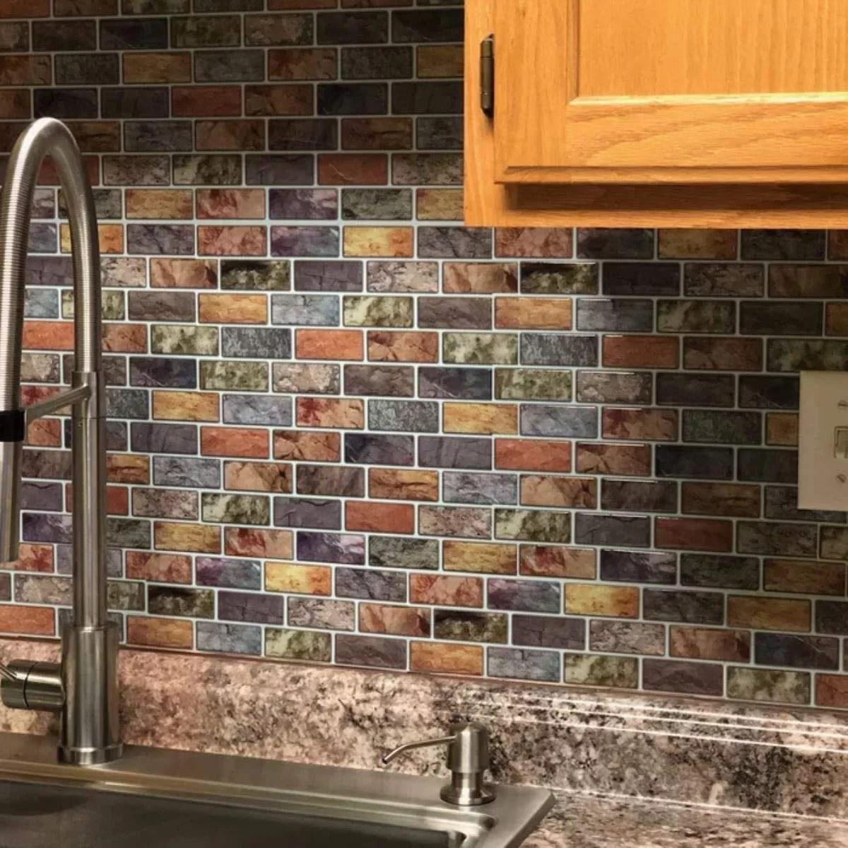 art3d 10 sheet peel stick kitchen backsplash sticker 12 x 12 faux ceramic tile design
