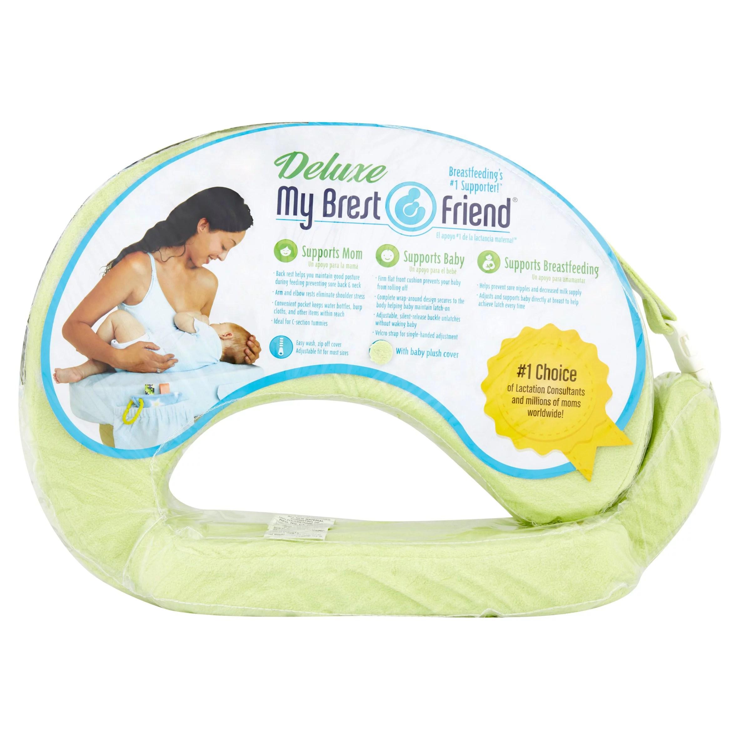 my brest friend deluxe nursing pillow light green