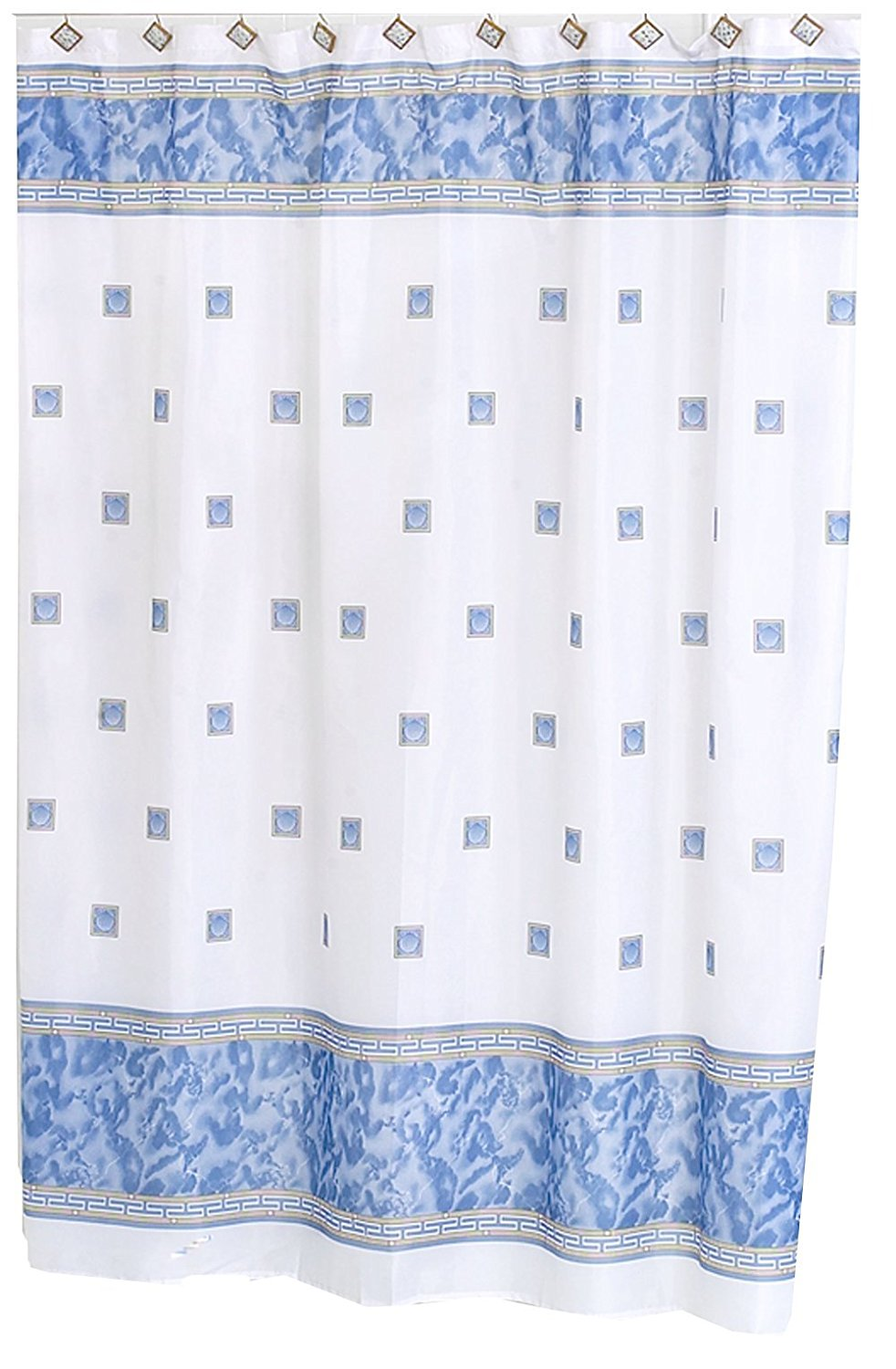 windsor 5 feet 8 inches by 6 feet fabric shower curtain slate blue 100 polyester by carnation home fashions from usa walmart com