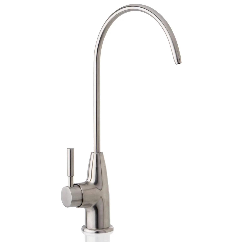 ispring ga1 hs stainless steel kitchen bar sink reverse osmosis ro filtration drinking water faucet brushed nickel finish