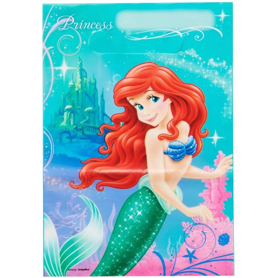 The Little Mermaid Treat Bags 8 Count Party Supplies Walmart Com Walmart Com