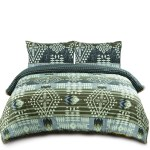 Muk Luks Bohemian Style Comforter Set With Fur Trim 2 Matching Shams Full Queen Size Taupe Cream Walmart Com Walmart Com