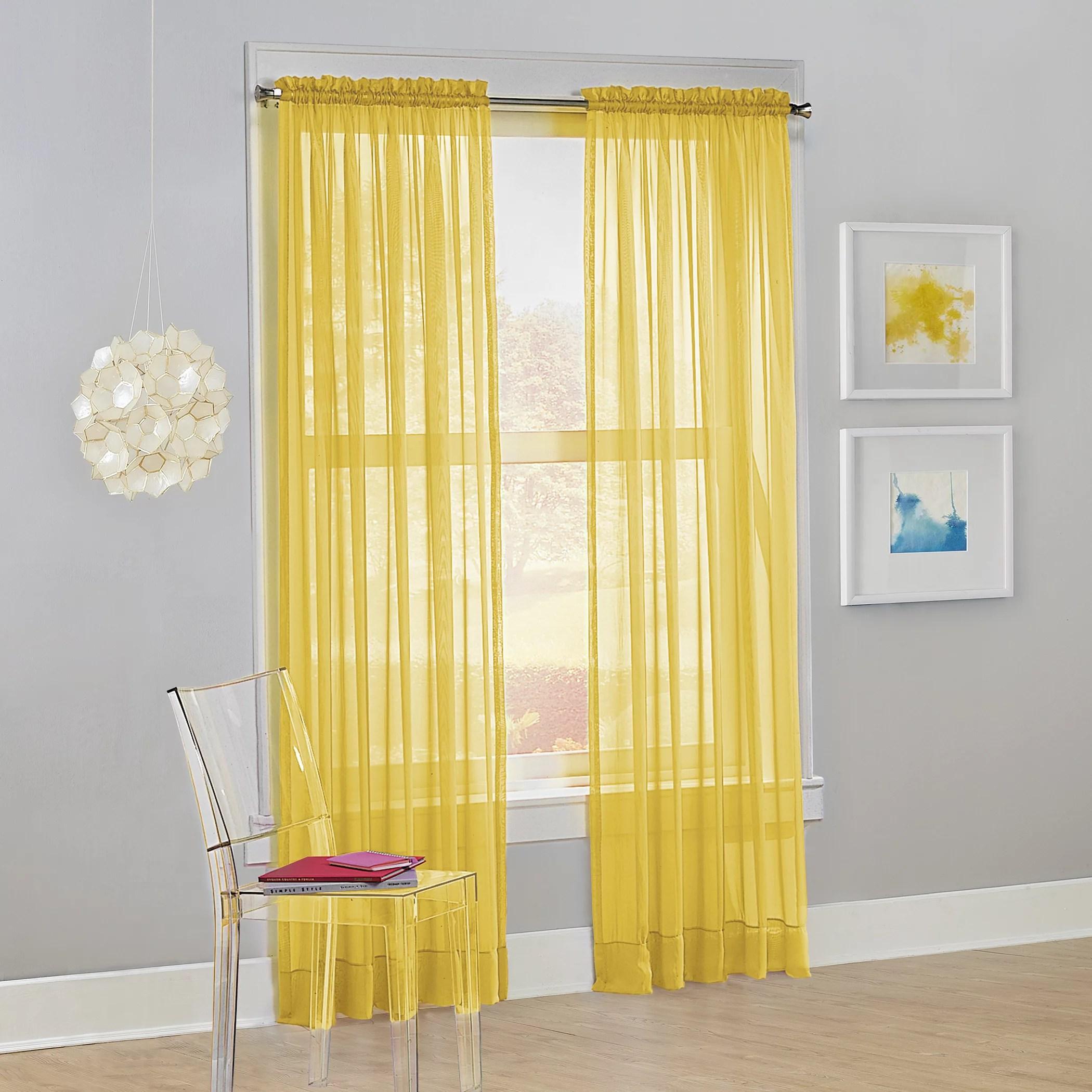 sheer curtains yellow walmart com