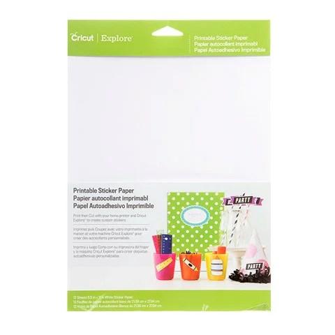 Cricut Sticker Paper 8 5x12 Walmart Com