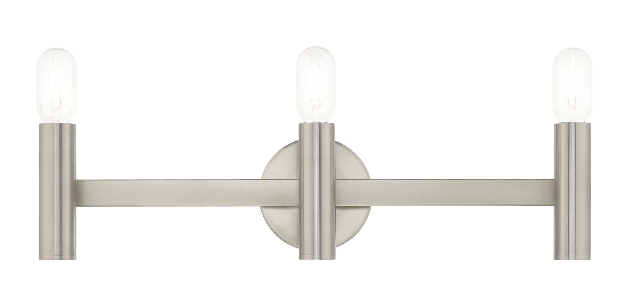 livex lighting 10343 copenhagen 3 light 24 wide bathroom vanity light