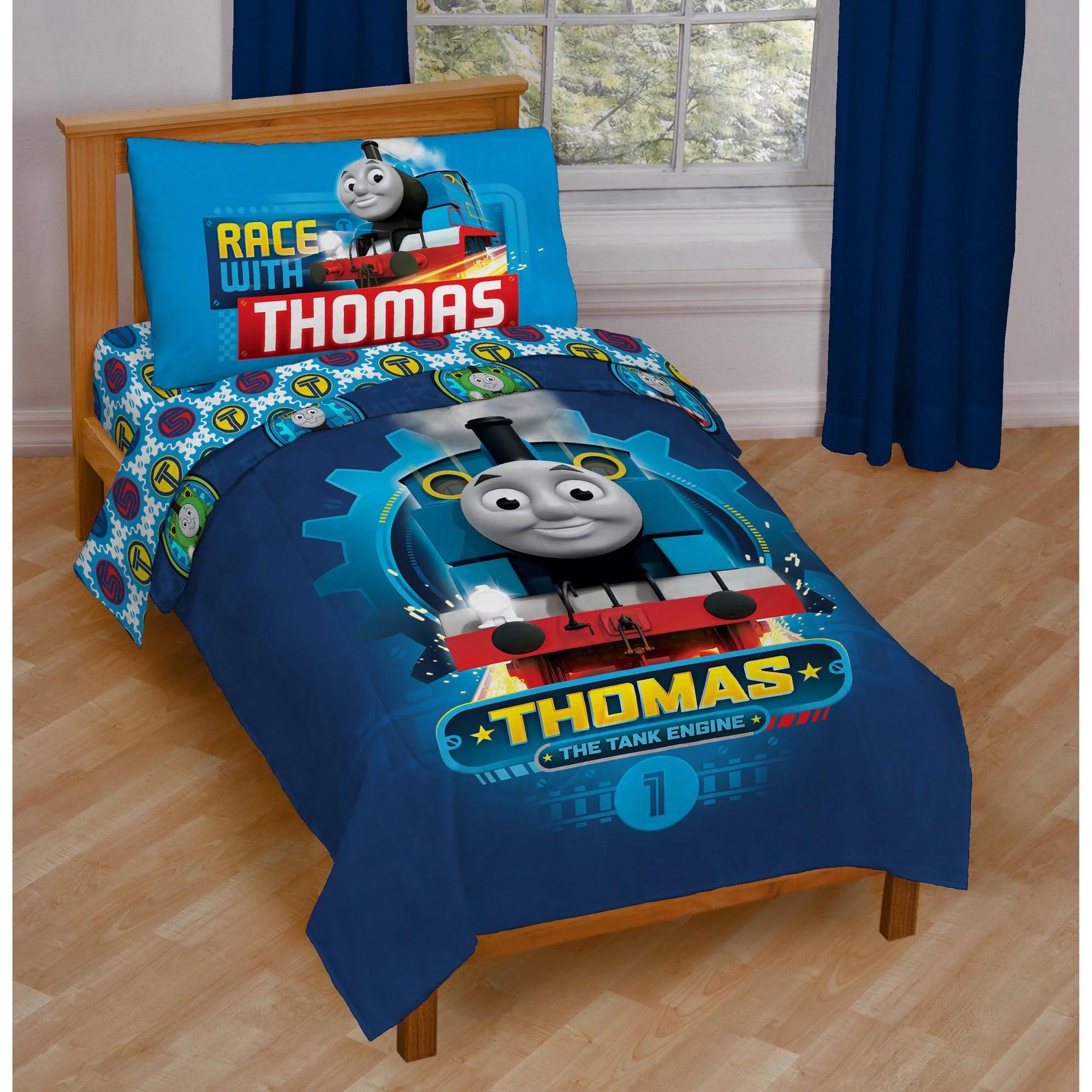 thomas and friends 4 piece toddler bedding set walmart com