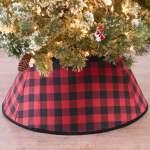 Holiday Time Red And Black Buffalo Check Christmas Tree Stand Band 22 Walmart Com Walmart Com