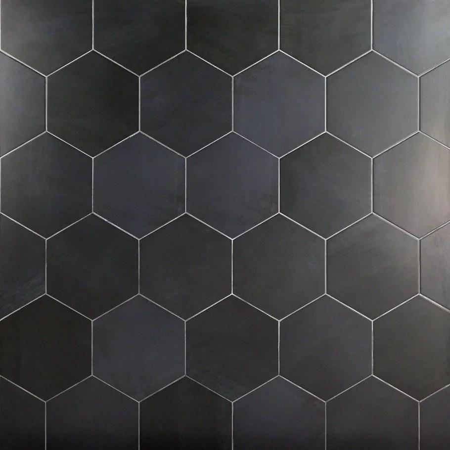 turner dark gray 10 hexagon porcelain tile 18 pieces 10 76 sq ft box