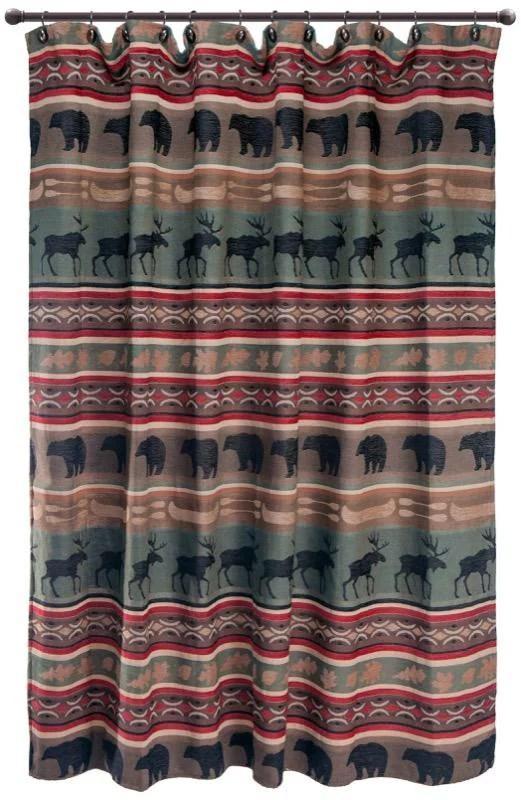 carstens backwoods rustic cabin shower curtain walmart com