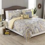 Better Homes Gardens Full Paisley Yellow Grey Comforter Set 5 Piece Walmart Com Walmart Com