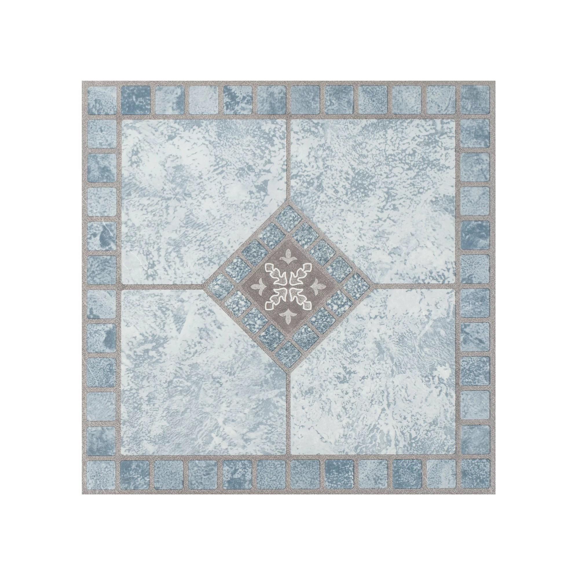 achim portfolio 12 x12 2 0mm peel stick vinyl floor tiles 9 tiles 9 sq ft blue diamond
