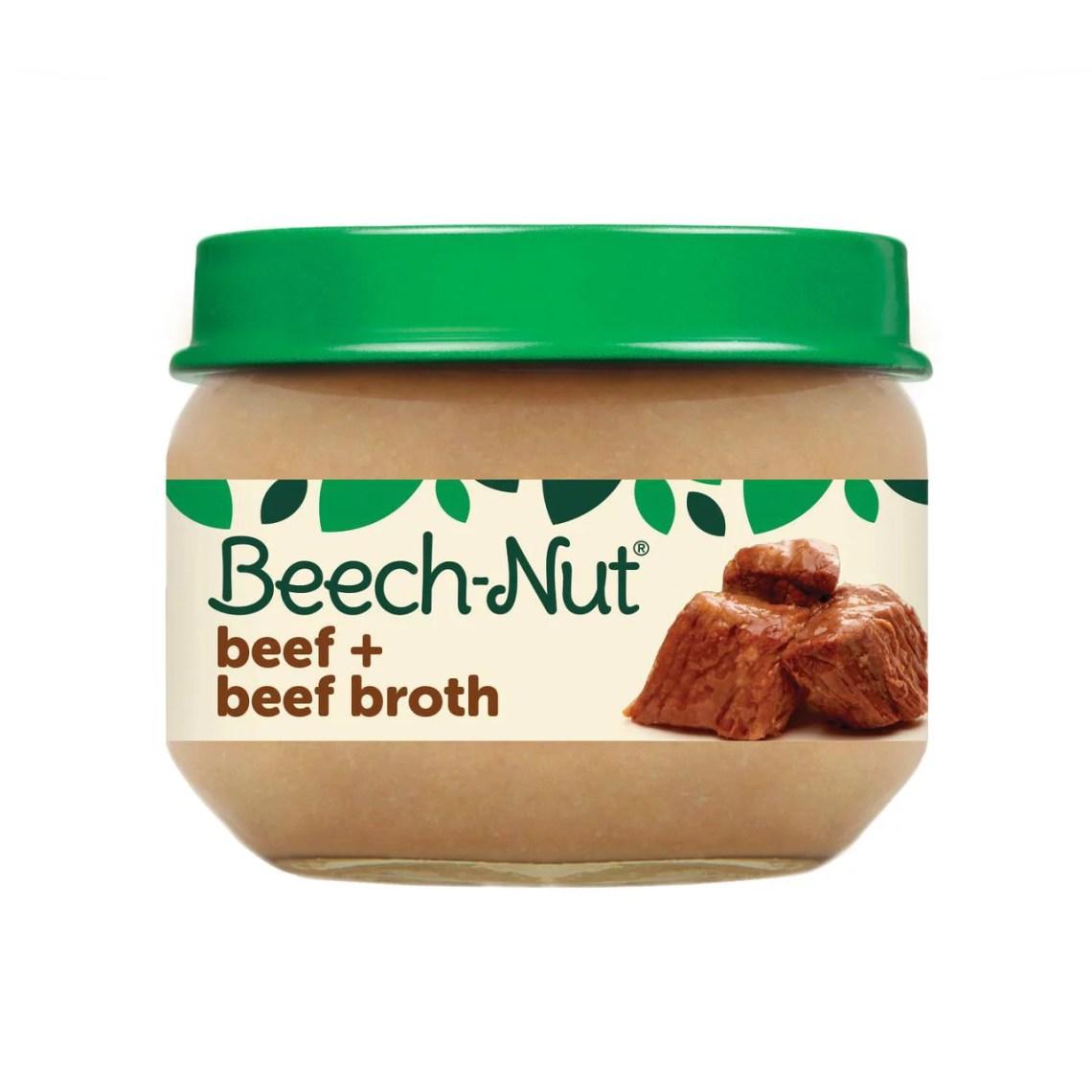 Beech-Nut Stage 1, Beef & Beef Broth Baby Food, 2.5 oz Jar ...