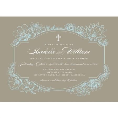Rustic Garden Standard Wedding Invitation