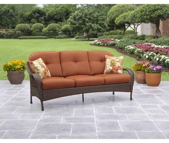 Better Homes And Gardens Azalea Ridge Outdoor Sofa Seats  Walmart Com