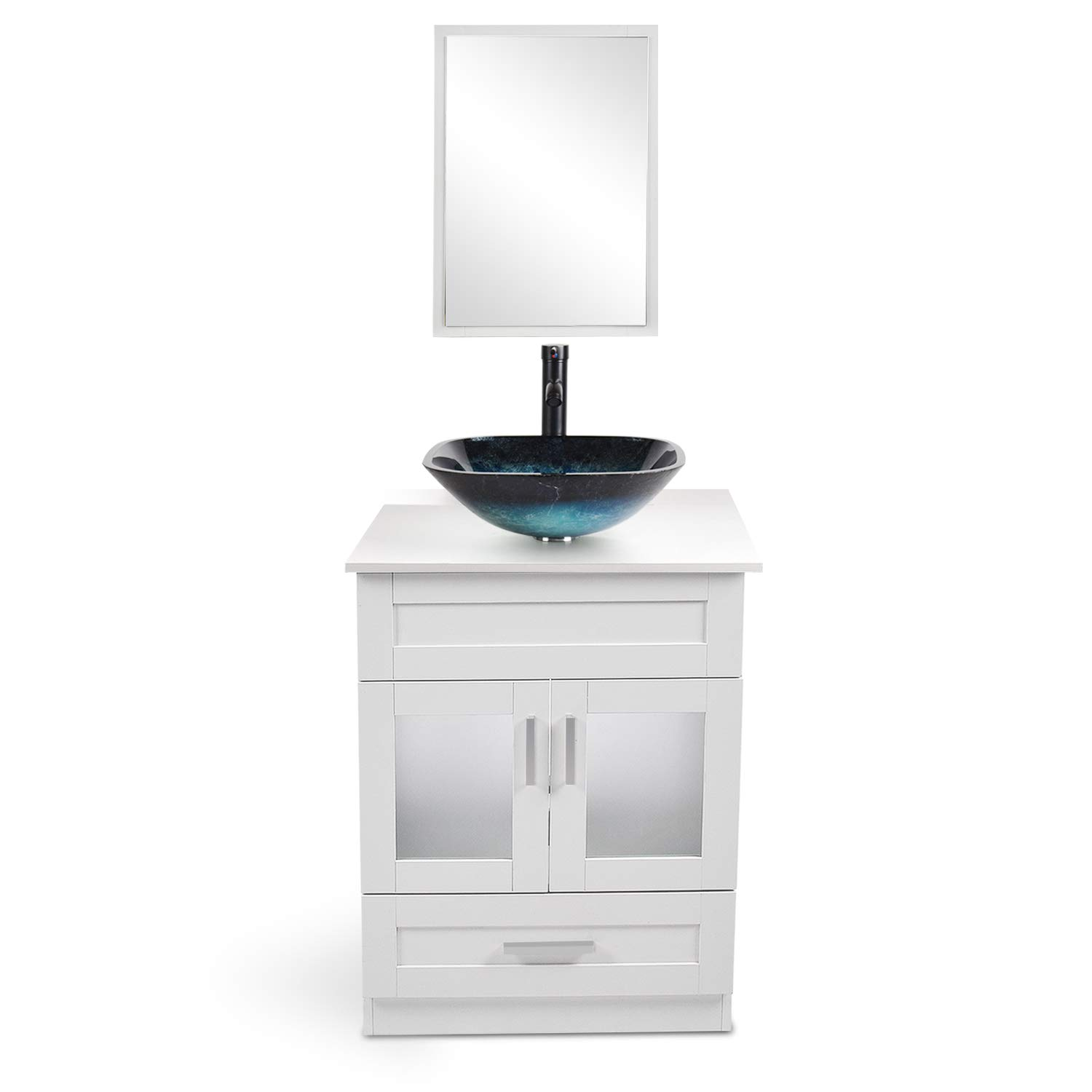 bathroom vanity 24 inch with sink wall mounted eco pvc sink cabinet vanity organizers with counter top glass vessel sink vanity mirror and 1 5 gpm