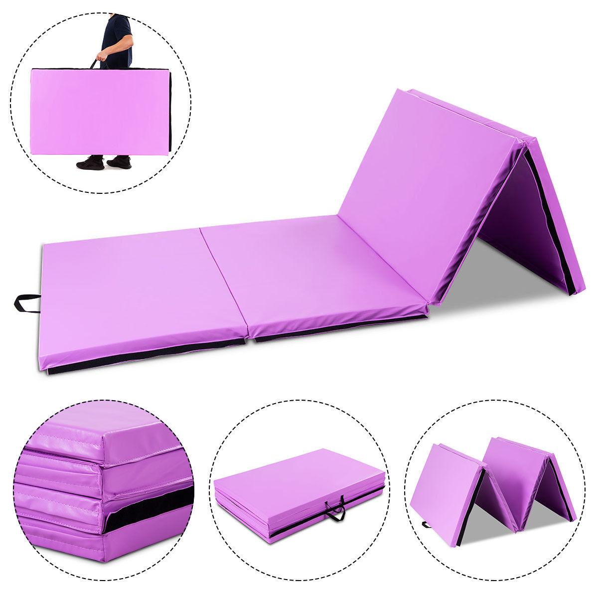 Gymax 4 X10 X2 Portable Gymnastic Mat Thick Folding Gym