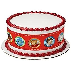 Daniel Tiger S Neighborhood Cake Strips Licensed Edible Cake Topper 7513 Walmart Com Walmart Com