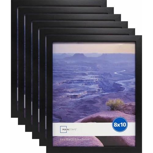 Mainstays 8 X 10 Black Linear Frame Set Of 6