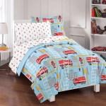 Dream Factory Fire Truck Bed In A Bag Comforter Set Blue Walmart Com Walmart Com