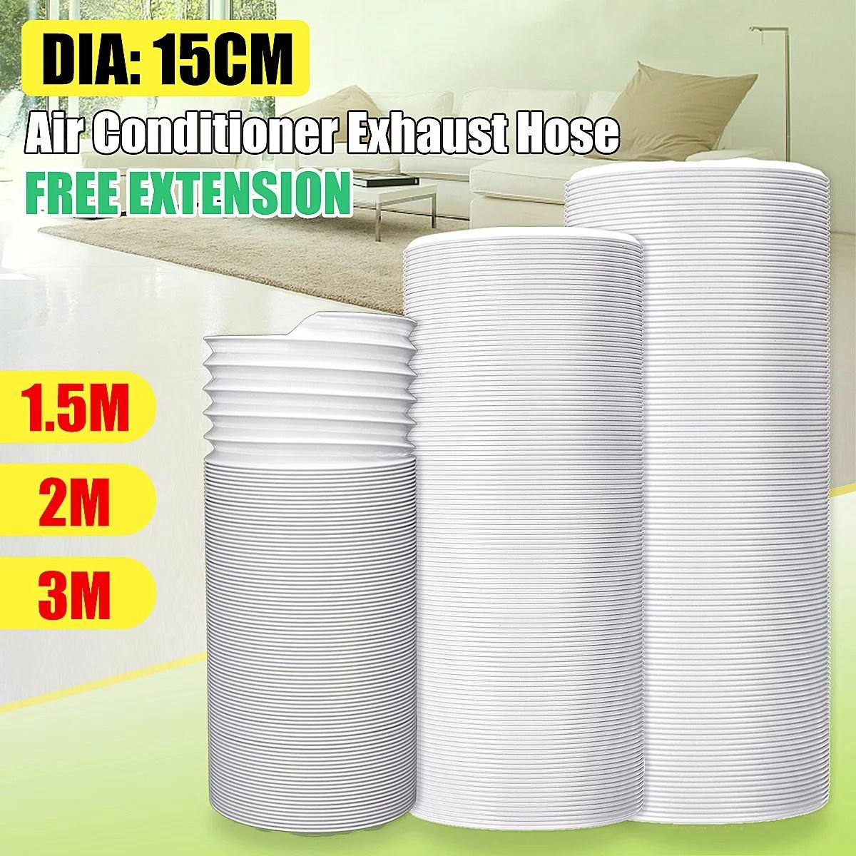 59 118 flexible exhaust hose 15cm 5 9 diameter free extension for portable air conditioner