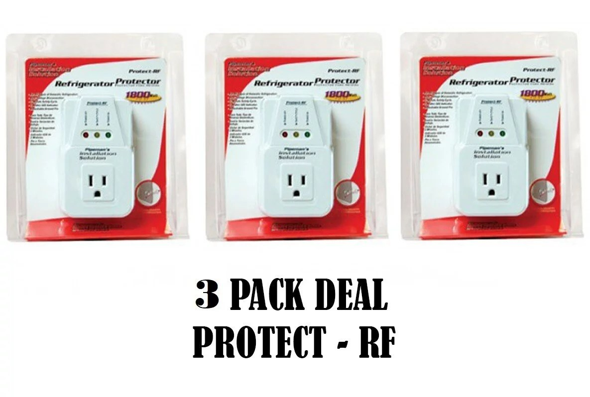 AC Voltage Protector Brownout Surge Refrigerator 1800 Watt Appliance 3 Pack Deal