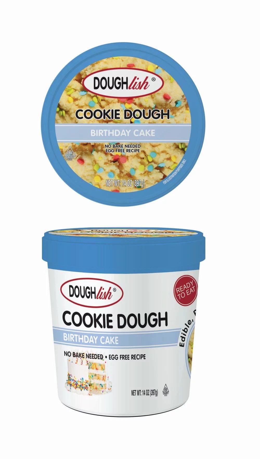 Doughlish Edible Cookie Dough Birthday Cake Pint 14 Oz Walmart Com Walmart Com