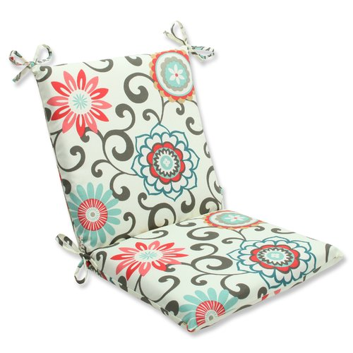 pillow perfect outdoor indoor pom pom play peachtini squared corners chair cushion