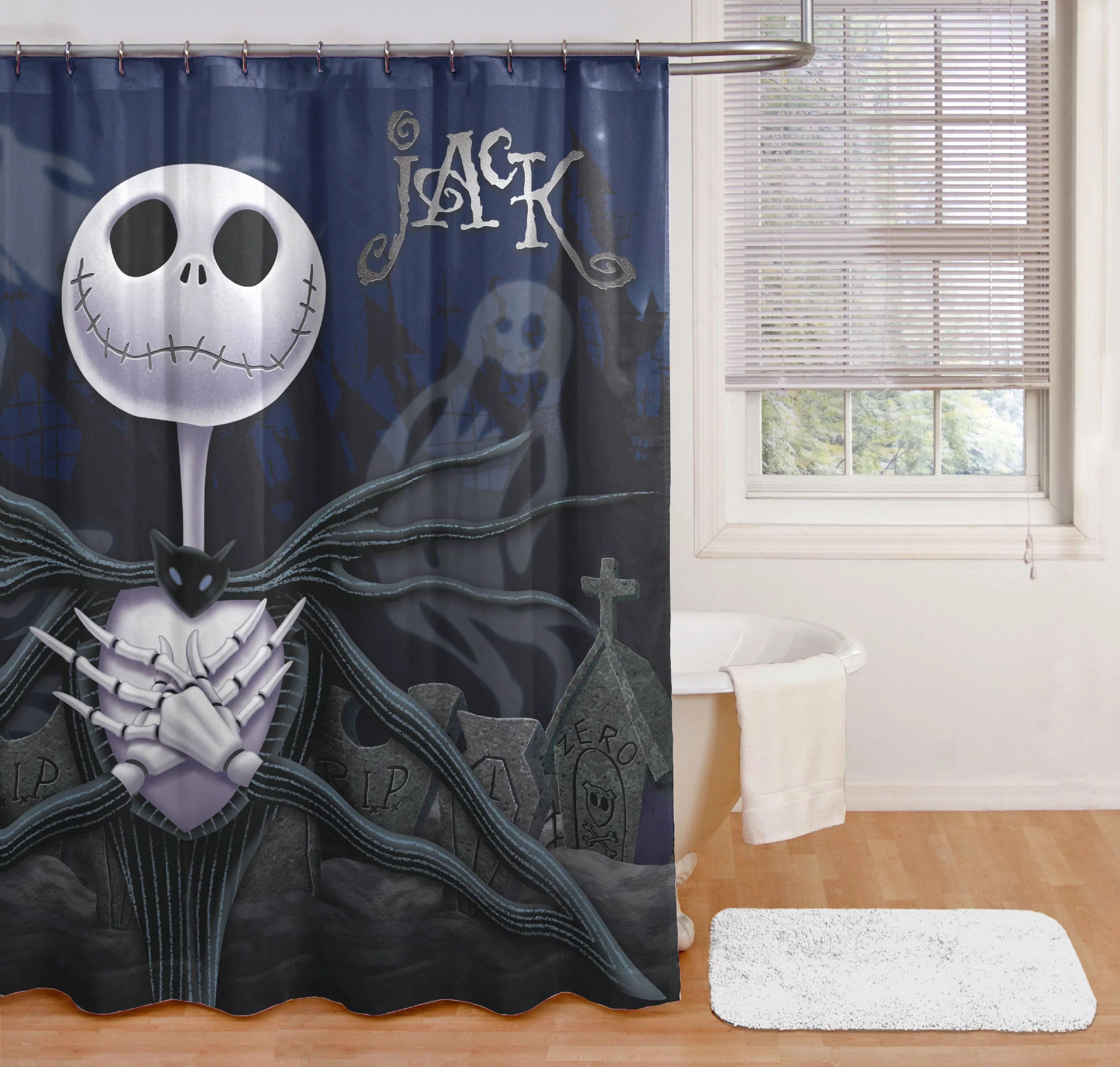 nightmare before christmas jack shower curtain