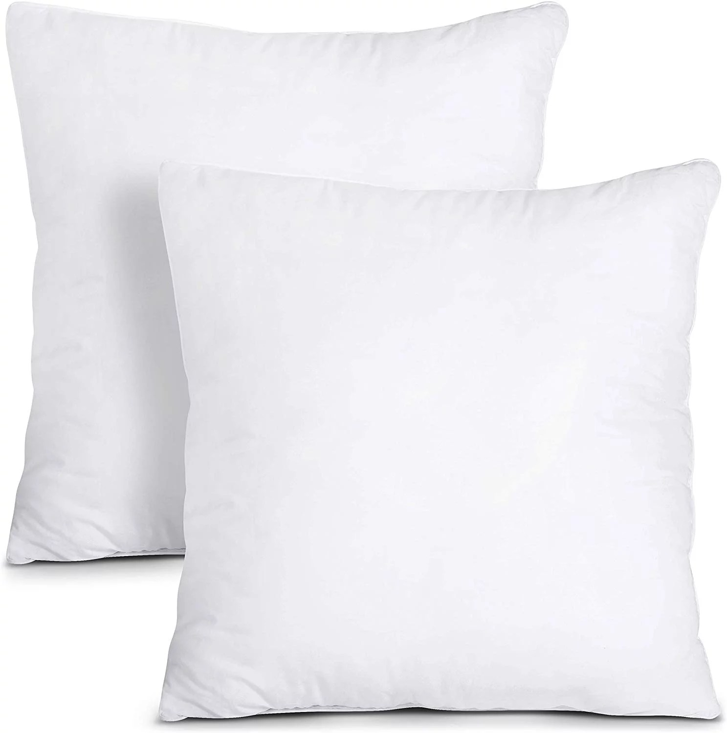 utopia bedding throw pillows insert pack of 2 white 28 x 28 inches bed and couch pillows indoor decorative pillows