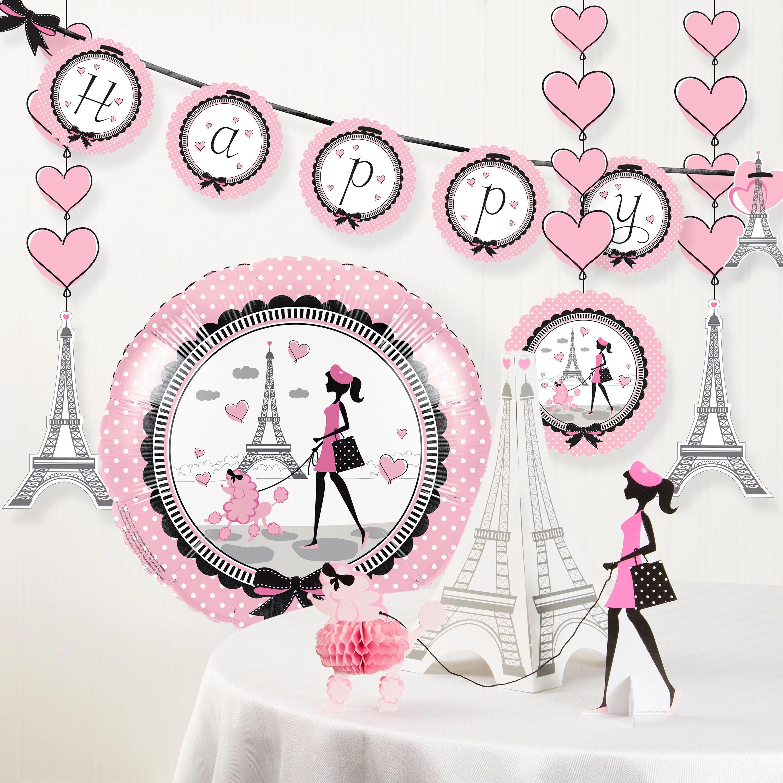 Party In Paris Birthday Party Decorations Kit Walmart Com Walmart Com