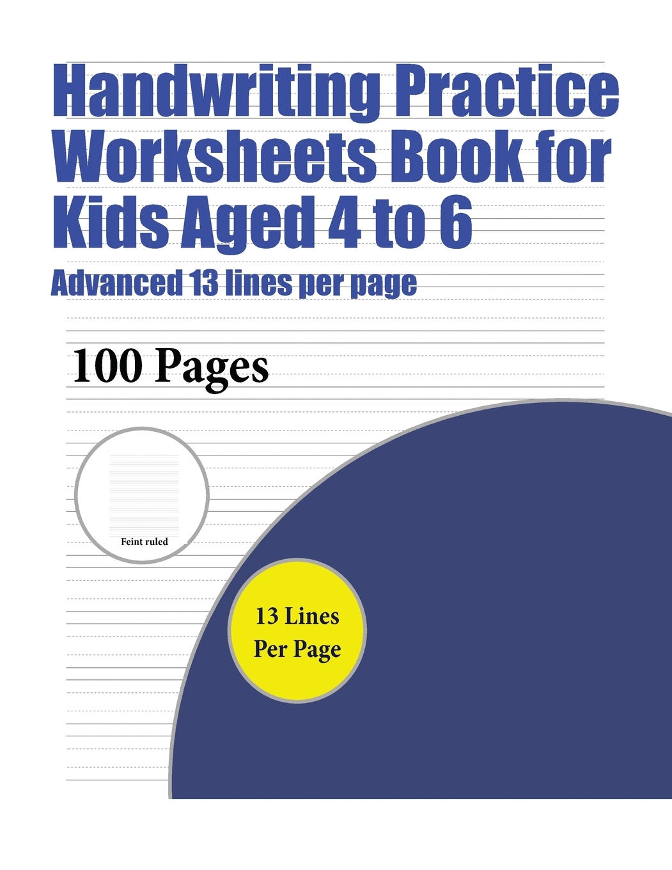 Handwriting Practise Worksheets Book For Kids Handwriting