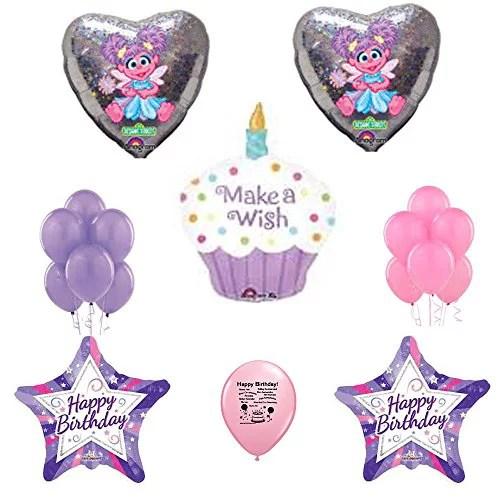 Abby Cadabby Party Supplies Balloon Decoration Kit Sesame Street Balloons Walmart Com Walmart Com