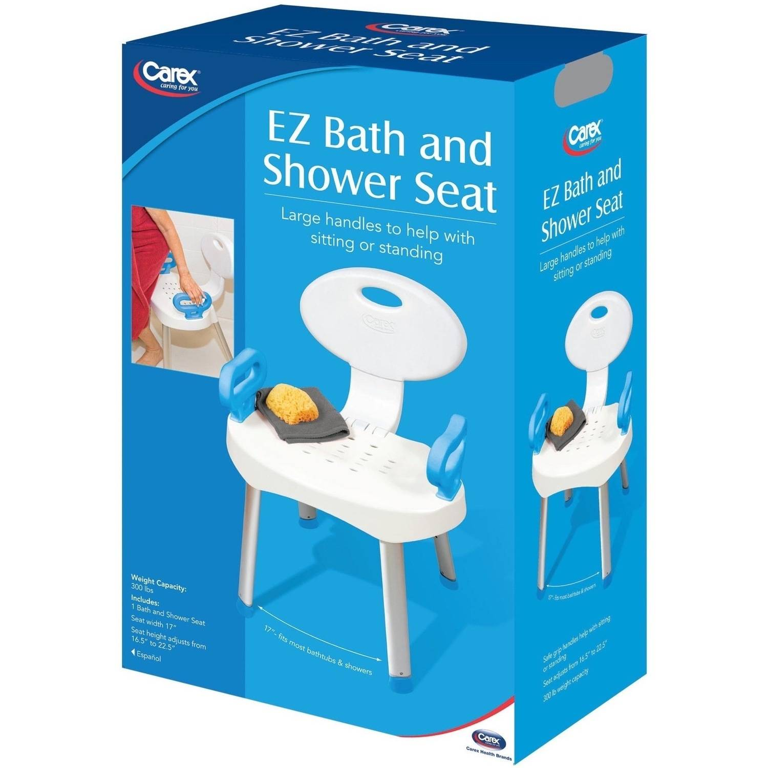 Carex E Z Bath Seat And Shower Seat With Handles Shower