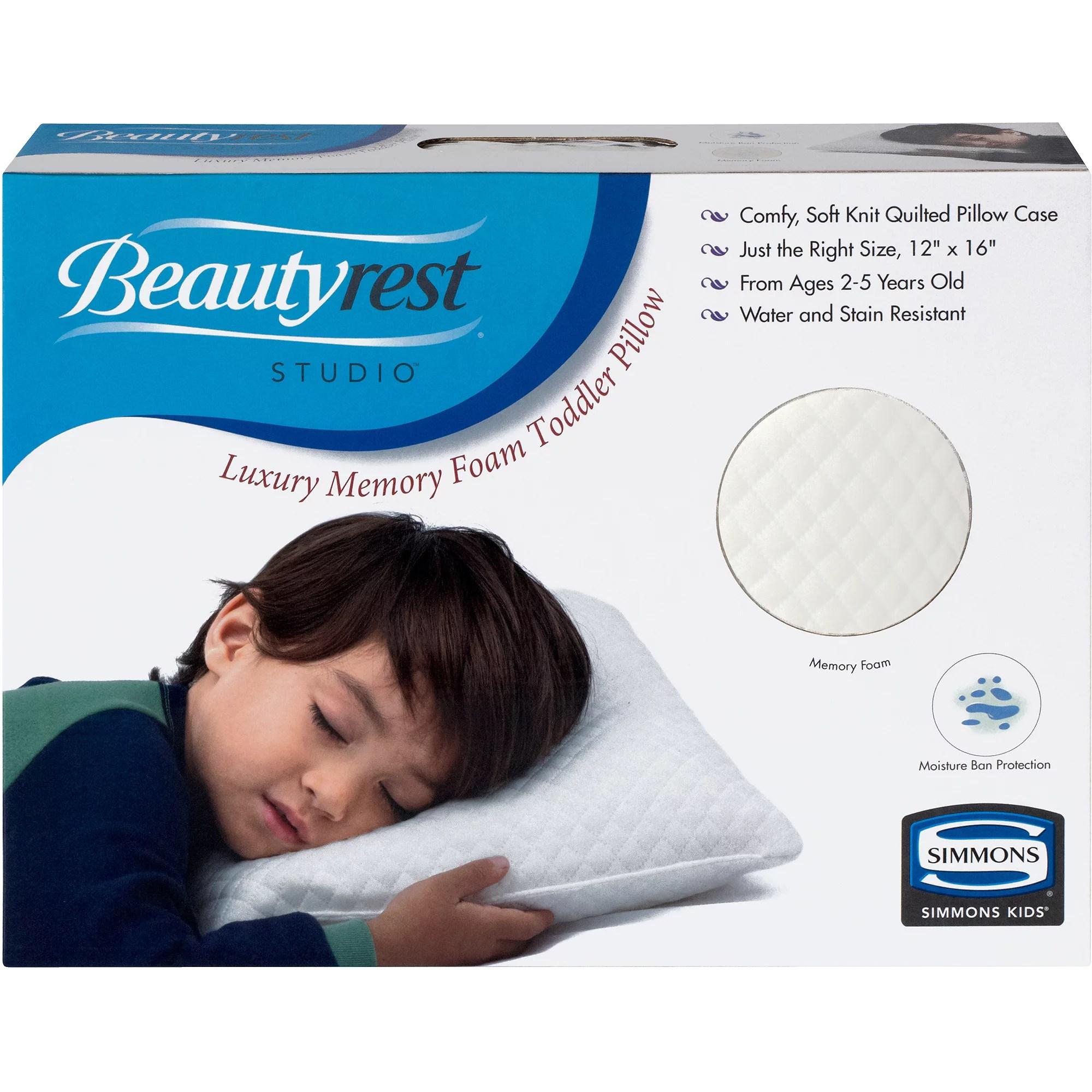 simmons kids beautyrest studio toddler memory foam pillow